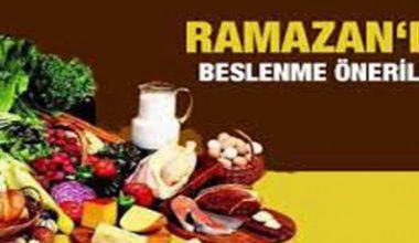 Ramazan Bayramı'nda Nasıl Beslenmek Gerekiyor?