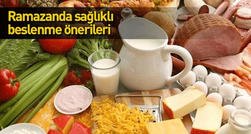 Ramazan Ayında Sağlıklı Beslenmek Mümkün